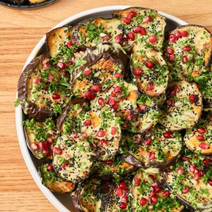 Roasted Aubergine Salad